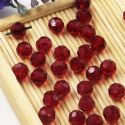 Beads, Auralescent Crystal, Crystal, Burgandy , Faceted Rounds, Diameter 6mm, 10 Beads, [ZZC240]